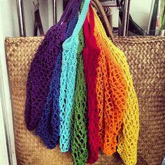 Ravelry: silviapi's Rainbow Crochet Grocery Bag