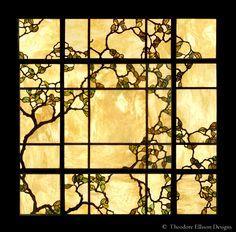 Oak Tree leaded glass laylight by Theodore Ellison Designs, Phoenix, Arizona