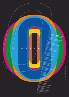"""Stadion"", (2008), Poster Design of: 'Conferences series' by ""Architektur Berna Design"""
