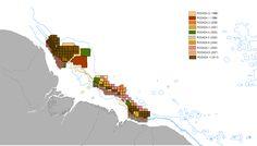 """Os cientistas mal descobriram os recifes do Amazonas e já se preocupam com o seu futuro. A costa norte do Brasil é uma das principais fronteiras do país para exploração de petróleo e gás, e centenas dos blocos exploratórios leiloados nos últimos anos pela ANP estão sobrepostos a sua área de ocorrência - o que não é mencionado nos EIAs dos empreendimentos. """"Se alguém já sabia da existência desses recifes, não contaram para ninguém""""."""