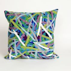 Visions II Pick Up Sticks Throw Pillow