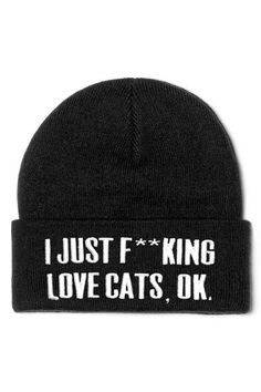 CATS. OK??? No, but seriously, OK! - Soft Knit.- Large Embroidered Design.- UNISEX. with KILLSTAR branding,100% Super Soft Acrylic.