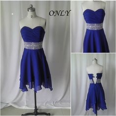 Popular short prom dress,navy blue evening dress,knee length prom dresses,beaded bridesmaid dress #EasyNip
