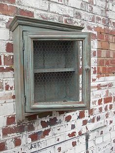 Reclaimed Antique Bathroom Cabinet - for jewelry!