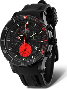 Vostok Europe Anchar Submarine Chrono Black/Black Watch 6S30/5104244