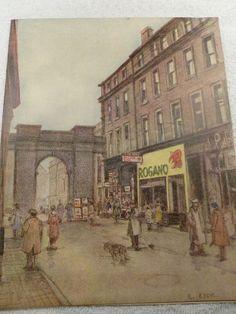 Glasgow Rogano Restaurant retro vintage food menu 1950s R Eadie history artwork