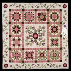 3rd Place, Category 6, Wall Quilts, Hand Quilted Any Type: Grape Arbor, Peggy Garwood, Fairfield Glade, Tenn. wiquiltexpo.com