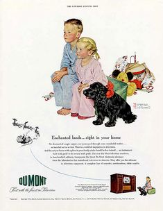 1950 - Dumont television - by Norman Rockwell | Flickr - Photo Sharing!