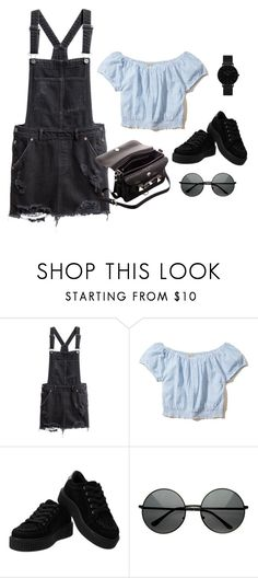 """Día en el parque"" by bethsalash ❤ liked on Polyvore featuring Hollister Co., Proenza Schouler and CLUSE"