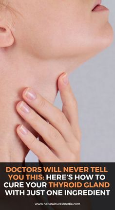 Doctors Will Never Tell You This: Here's How to Cure Your Thyroid Gland With Just One Ingredient! Health And Fitness Articles, Good Health Tips, Natural Health Tips, Natural Health Remedies, Health And Beauty Tips, Health Advice, Natural Cures, Herbal Remedies, Health Fitness
