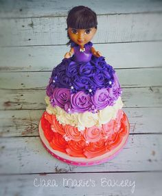 Traditional Doll Cake Using A Dora The Explorer Doll