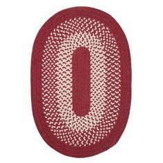 Beachcrest Home Quigley Hand-Woven Red Area Rug Rug Size: Oval 12' x 15'