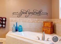 Bathroom Wall Decal Bathroom Decor Wall by FourPeasinaPodVinyl