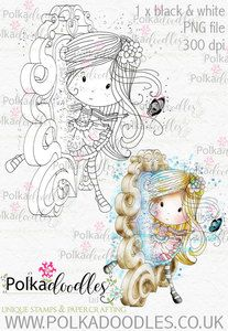 Winnie Wonderland Through the Looking Glass - Printable Digital stamp download