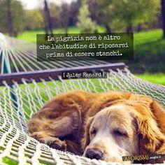 La pigrizia non è altro che l'abitudine di riposarsi prima di essere stanchi.