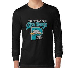 90s Throwback, Portland City, Neck T Shirt, Solid Colors, Cuffs, Crew Neck, Range, Slim, Sweatshirts