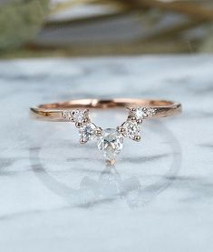 Moissanite Curved wedding band women rose gold ring Vintage pear cut Jewelry Antique Solid Matching Promise Anniversary Gift for her Geschwungene Moissanite Ehering Frau rose Gold ring Vintage Braut Set Schmuck Antik solide passende Versprechen Jah Morganite Engagement Ring Pear, Pear Cut Engagement Rings, Moissanite Wedding Rings, Engagement Ring Settings, Vintage Engagement Rings, Solitaire Engagement, Engagement Couple, Curved Wedding Band, Gold Diamond Wedding Band