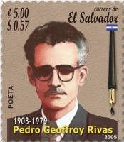 """""""Descubriendo Santa Ana"""":  """"Literatura santaneca"""" Pedro Geoffroy Rivas. Nació en Santa Ana (1908-1979) fue antropólogo, lingüista, y poeta, escribió muchos libros y fue uno de los primeros en pronunciarse ante la masacre de Izalco de 1932."""