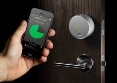August Smart Lock: control who comes in and out through your phone. (Bad news for teens trying to break curfew.)