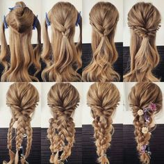 Variation of the comfortable hair arrangement, even if there are several. self frisuren haare hair hair long hair short Everyday Hairstyles, Pretty Hairstyles, Easy Hairstyles, Girl Hairstyles, Updos Hairstyle, Brunette Hairstyles, Bouffant Hairstyles, Mermaid Hairstyles, Barbie Hairstyle