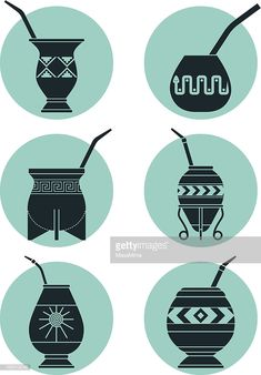 Arte vectorial : Icons with Calabashes Love Tattoos, Tatoos, Argentina Culture, Coffee Painting, Rio Grande Do Sul, Stick Figures, Tattoo Studio, Icon Set, Traditional Art