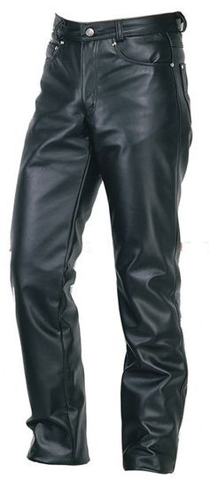 Men's Genuine Leather Five Pockets Levi's Style Trouser Pant #ad