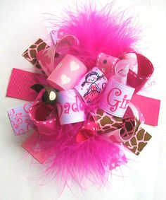Funky Loopy Fabulously Fun Daddys Girl Boutique Hair Bow-Fabulously Funky Fun-Over The Top Deluxe Hair Bow   http://www.etsy.com/listing/96306198/funky-loopy-fabulously-fun-daddys-girl?ref=sr_gallery_20_search_query=over+the+top+hair+bow_view_type=gallery_ship_to=US_page=32_search_type=all