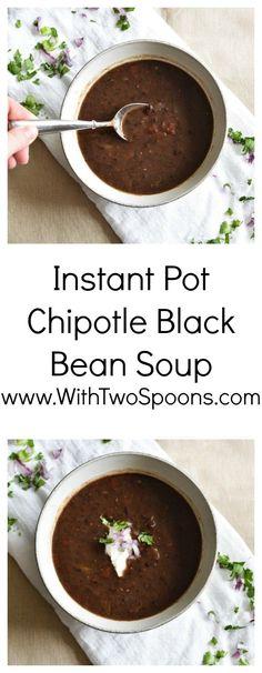 Instant Pot Chipotle Black Bean Soup