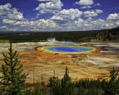 """Grand Prismatic Spring in Yellowstone National Park, Wyoming Fur trappers stumbled upon this """"boiling lake"""" less than 200 years ago."""