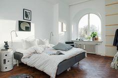 Un piso sueco de planta poco convencional.