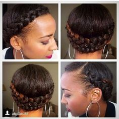 Protective braided updo