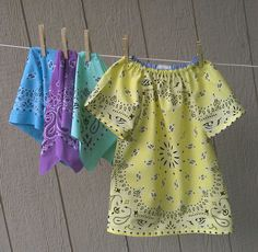 Traditional Print Hanky Dress by FreckledChicken on Etsy, $22.00
