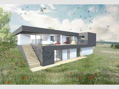 Construire votre maison sur un terrain en pente maison terrain en for Photo maison contemporaine sur terrain en pente