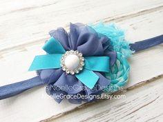 Fabric Flower Headband M2M Addison Ava's by NoelleGraceDesigns
