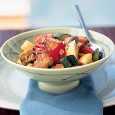 We swapped tempeh for traditional eggplant in this ratatouille. Use any fresh vegetable combination in this easy sauté.