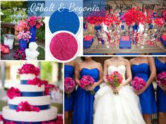 Wedding Color Trends: Blue and Pink. Royal blue and hot pink