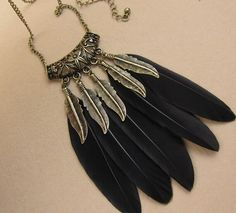 Cheap Pendant Necklaces on Sale at Bargain Price, Buy Quality feather pad, necklace black, feather peacock from China feather pad Suppliers at Aliexpress.com:1,Chain Type:Link Chain 2,Shape\pattern:Feather 3,Material:Feather 4,Item Type:Necklaces 5,Gender:Women
