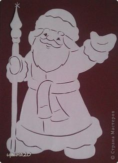 Картина панно рисунок Новый год Вырезание новый год Бумага фото 5