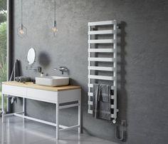 Grzejnik łazienkowy Excellent Meteor 137 to prostota oraz regularny układ profili łączący nowoczesną stylistykę z klasycznym ideałem piękna. #excellent #mieszkaniemarzeń #interiorstyle #instapic #tile #wnetrze #architekturawnetrz #projektdomu #budowadomu #inspiration #lazienki #warszawa #projektowaniewnetrzbydgoszcz Vanity, Desk, Bathroom, Furniture, Home Decor, Dressing Tables, Washroom, Powder Room, Desktop
