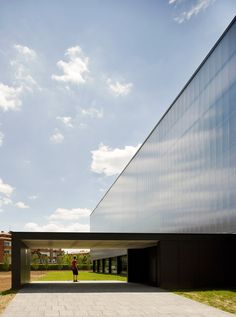 [BCQ | Girona, Spain | Municipal Sports Hall] industrial building design, facade pattern, polycarbonate panels, entry