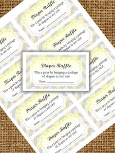 You Are My Sunshine Diaper Raffle Cards  by BloomParties on Etsy