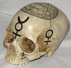 Hand Painted Mystical Skull Statue
