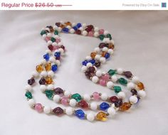 Vintage Retro Multi Colored and White Glass by MemawsTopDrawer, $23.85