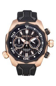 Main Image - Brera Orologi 'Pro Diver' Chronograph Rubber Strap Watch, 43mm