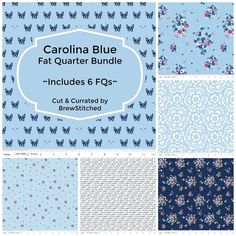 New Carolina Blue Fabric Now Available - Love those little blue french bulldogs!!