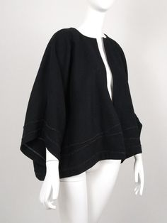 Veste kimono, oversize Tweed, Bell Sleeves, Bell Sleeve Top, Couture, Blouse, Long Sleeve, Tops, Women, Fashion