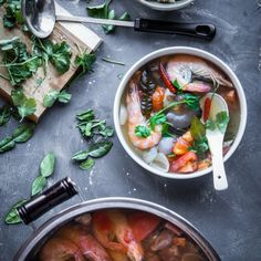 Thai Tom Yum Goong is highly addicting with its sour, spicy, savory taste profile
