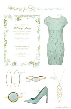 Stationery & Style: Holiday Party Outfit