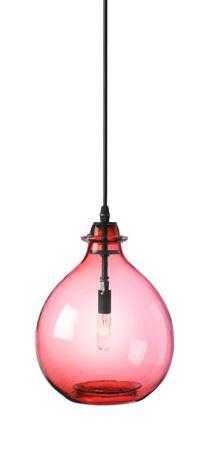 Jug Lamp Pink Small Pendant :: Hand Blown Glass