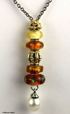We love the Trollbeads Amber! Here they are featured on a Fantasy Necklace design. ^